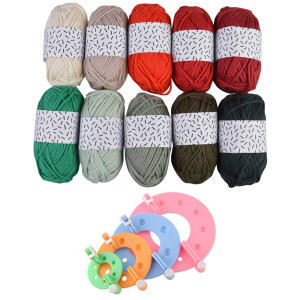 Pompon Maker og Rico Design Mini Bomuld Jul - Pompon Kit