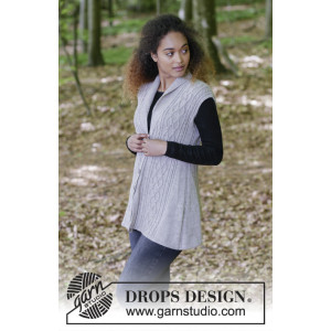 Morgan's Daughter Vest by DROPS Design - Patron de Gilet Tricoté tailles S - XXXL