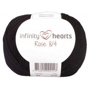Infinity Hearts Rose 8/4 Cotton Unicolore 01 Noir