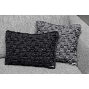 Rito Krea Kit Crochet Oreillers Vannerie 30x50cm et 40x40cm