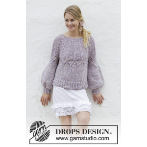 Fair Lily by DROPS Design - Patron de Chandail Tricot Tailles S - XXXL