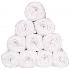 Mayflower Cotton 8/4 Junior Garnpakke Unicolor 1402 Hvid - 10 stk