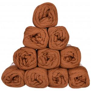 Mayflower Cotton 8/4 Junior Garnpakke Unicolor 1432 Brun - 10 stk