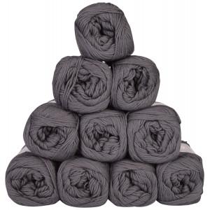 Mayflower Cotton 8/4 Junior Garnpakke Unicolor 1442 Mørkegrå - 10 stk