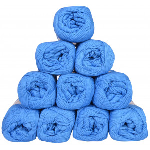Mayflower Cotton 8/4 Junior Garnpakke Unicolor 1420 Blå - 10 stk
