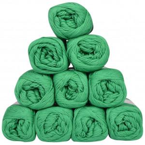 Mayflower Cotton 8/4 Junior Garnpakke Unicolor 1427 Grøn - 10 stk