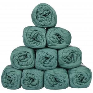 Mayflower Cotton 8/4 Junior Garnpakke Unicolor 1429 Petrol - 10 stk