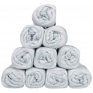Mayflower Cotton 8/4 Junior Pack Laine Unicolore 1434 Vert Gris Clair - 10 pces
