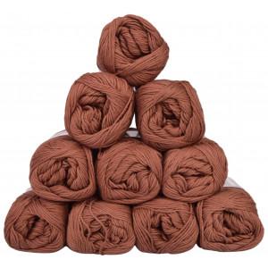 Mayflower Cotton 8/4 Junior Pack Laine Unicolore 1437 Marron - 10 pces