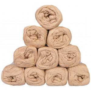 Mayflower Cotton 8/4 Junior Garnpakke Unicolor 1438 Beige - 10 stk