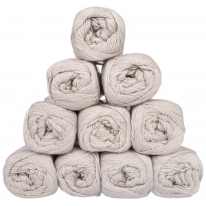 Mayflower Cotton 8/4 Junior Garnpakke Unicolor 1440 Lysegrå - 10 stk