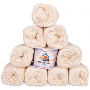 Mayflower Cotton 8/4 Junior Garnpakke Unicolor 1401 Natur - 10 stk