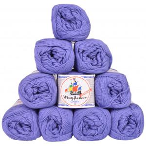 Mayflower Cotton 8/4 Junior Pack Laine Unicolore 1417 Lavande - 10 pces