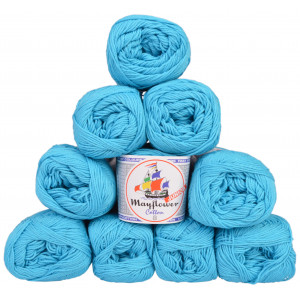 Mayflower Cotton 8/4 Junior Pack Laine Unicolore 1424 Turquoise - 10 pces