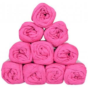 Mayflower Cotton 8/4 Junior Pack Laine Unicolore 1470 Cerise - 10 pces
