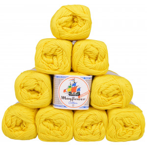 Mayflower Cotton 8/4 Junior Garnpakke Unicolor 1405 Gul - 10 stk