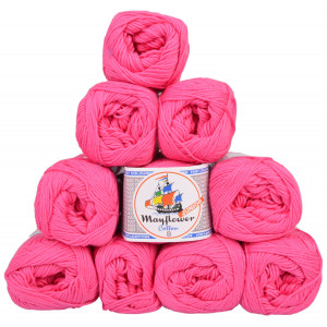 Mayflower Cotton 8/4 Junior Garnpakke Unicolor 1410 Pink - 10 stk