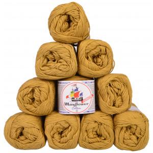 Mayflower Cotton 8/4 Junior Pack Laine Unicolore 1433 Olive Clair - 10 pces