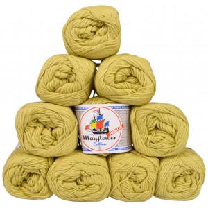 Mayflower Cotton 8/4 Junior Pack Laine Unicolore 1426 Citron Vert - 10 pces