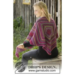 Autumn Flowers par DROPS Design - Modèle Crochet Châle 166x60cm
