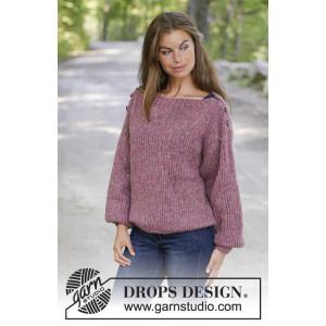 Raspberry Flirt par DROPS Design - Modèle Tricot Pull Tailles S - XXXL