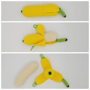 Rito Krea Karla's Banana - Patron de Fruit au Crochet 21cm