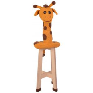 Tabouret Girafe par Rito Krea - Modèle Crochet Rembourrage Tabouret