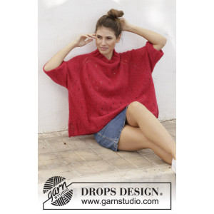 Strawberry Swing par DROPS Design - Modèle Tricot Chemisier Tailles S - XXXL