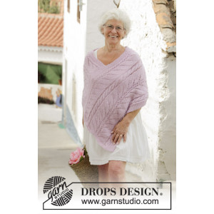 Sweet Nancy by DROPS Design - Patron de Poncho Tricot Tailles S - XXXL