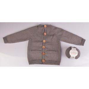 Cardigan Tricoté Basique par Rito Krea - Modèle Tricot Gilet taille Prématuré - 18 mois