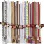 Bandelettes Papier pour Étoile Couleurs Assorties, l: 15+25+40mm, Ø6,5+11,5+18cm, 18 lots