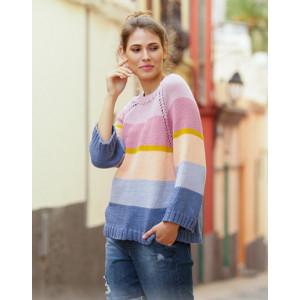 Sonora Sunrise Sweater par DROPS Design - Modèle Tricot Pull Tailles S - XXXL