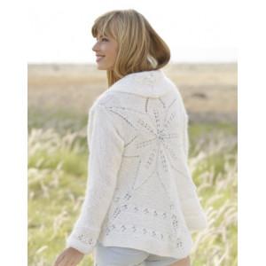 Fleur Blanche par DROPS Design - Patron de Veste Circulaire Tricotée Tailles S - XXXL