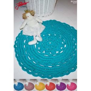 Hoooked DIY Kit Crochet Tapis Rond Floral