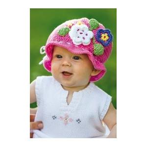 Järbo Plein Soleil - Patron de Chapeau Bébé au Crochet avec Fleurs
