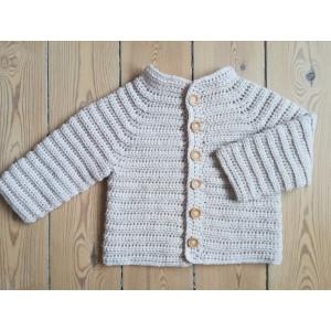 La Veste October par Rito Krea - Modèle de Crochet Veste Bébé tailles 6mois-4/5ans