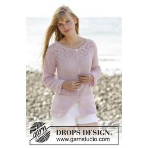 Cardigan Connexion Rose par DROPS Design - Patron Veste Dentelle Tailles S - XXXL