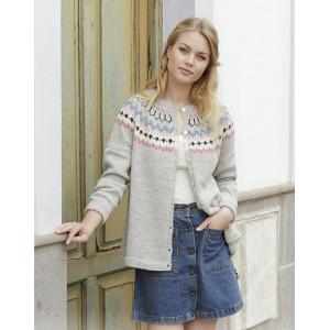 Mina Cardigan by DROPS Design - Patron de Veste Tricot Tailles S - XXXL