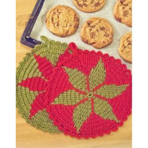 Recettes du Père Noël par DROPS Design - Pattron de Porte-pots de Noël au Crochet 24cm - 2 pces
