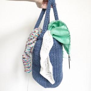Fill-me-up-bag par Rito Krea - Modèle de tricot pour sac 30x28cm