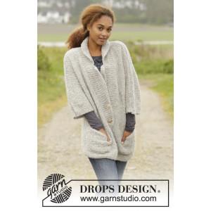 Clarice par DROPS Design - Patron de Veste Tricotée avec Poches Tailles S - XXXL