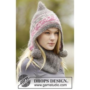 Chapeau Hiver Doux par DROPS Design - Patrons de Chapeau et Tour de Cou Tricotés avec Motif Nordique Tailles S - XL